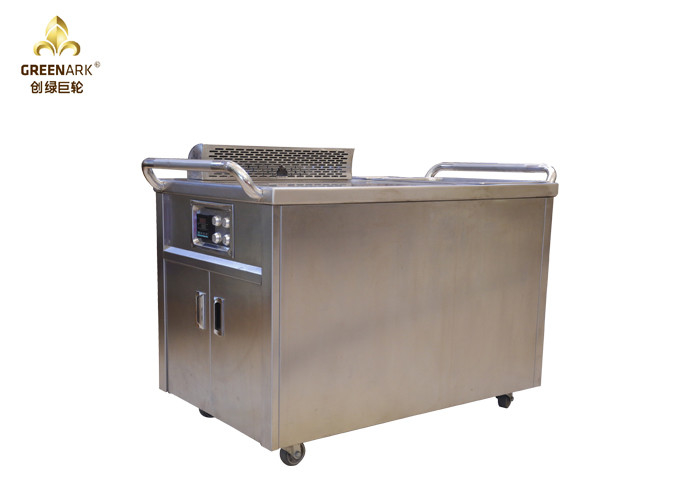 Induction Mobile Teppanyaki Grill Table Electrostatic Fume Down Exhaustion